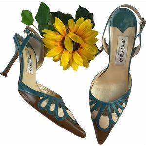 Jimmy Choo Pumps Slingback Leather Cutout shoes